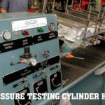 Hot water pressure testing on cylinder heads