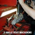 3 angle valve seat maching