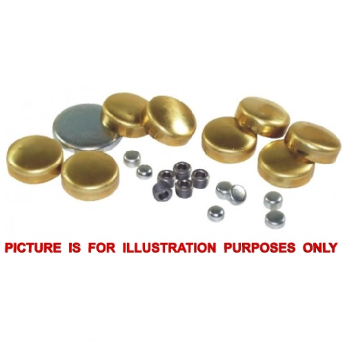 Brass, Stainless steel type metric or imperial welch plugs