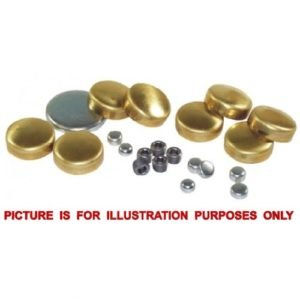 35mm Brass Cup - Welch Plug Pack of 10